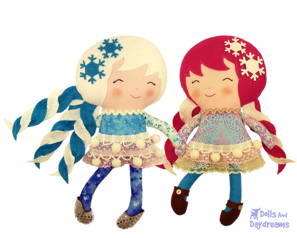 Snow Sisters Sewing Pattern - Dolls And Daydreams - 2