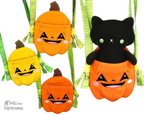 ith-tiny-pumpkin-tote-pattern trick or treat bag by dolls and daydreams