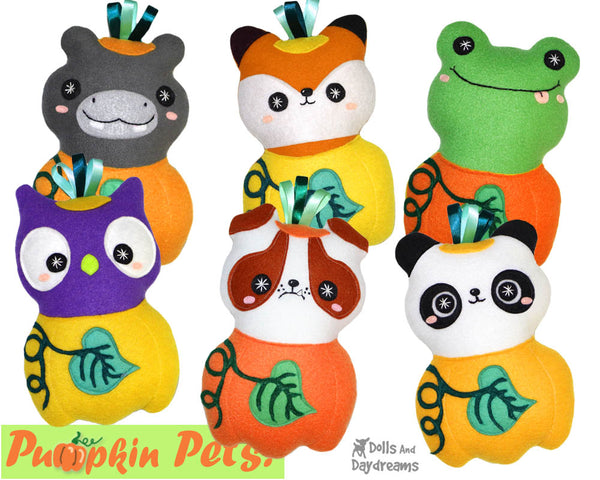Quick Kids Pumpkin Pets Sewing Pattern Pack 2