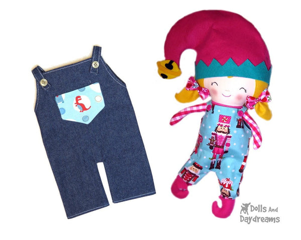 Dungarees & Overall Shorts Double Pack Sewing Pattern - Dolls And Daydreams - 4