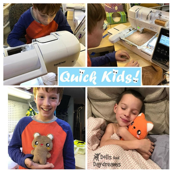 Teach your Kids Machine Embroidery using easy ITH patterns by Dolls And Daydreams