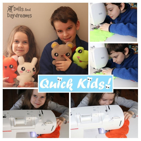 Easy Sewing Pattern Teach your Kids to Sew by Dolls And Daydreams