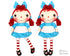 Raggedy Ann Cloth doll Pattern machine embroidery doll by dolls and daydreams
