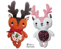 Baby Reindeer Sewing Pattern - Dolls And Daydreams - 1