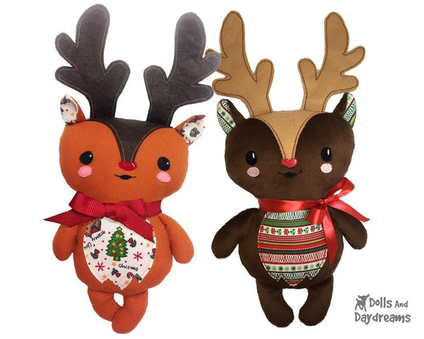 Baby Reindeer Sewing Pattern - Dolls And Daydreams - 3