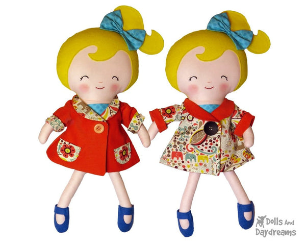 Reversible Retro Swing Coat Sewing Pattern - Dolls And Daydreams - 2