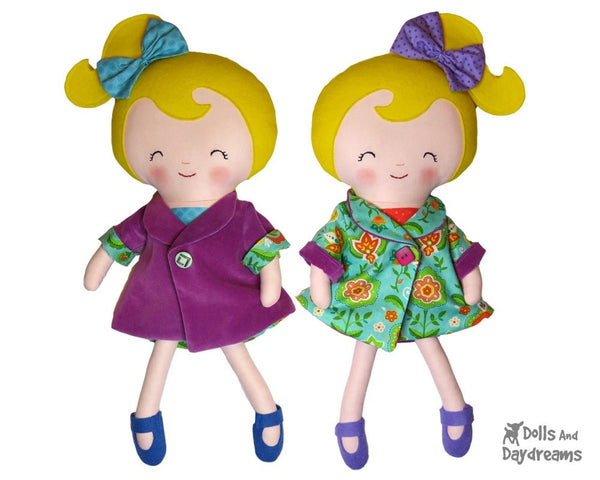 Reversible Retro Swing Coat Sewing Pattern - Dolls And Daydreams - 4