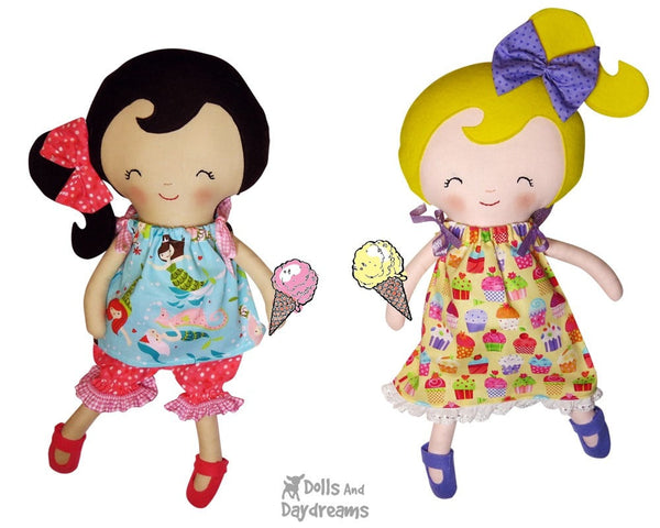 Ribbon Tie Dress & Top Sewing Pattern - Dolls And Daydreams - 3