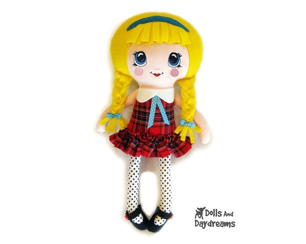 Machine Embroidery Kawaii Doll Face Pattern - Dolls And Daydreams - 4