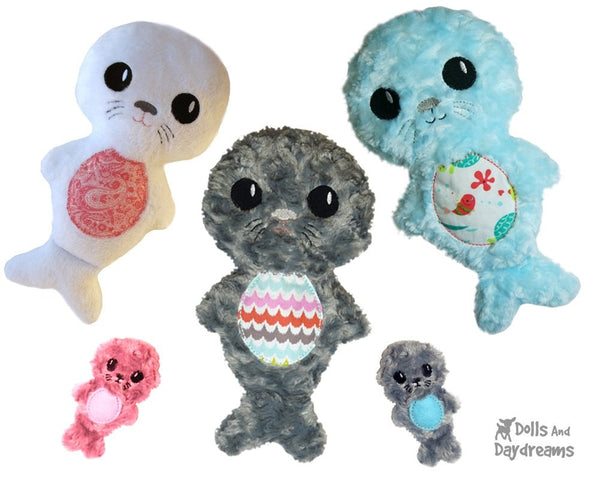 Embroidery Machine Seal Pup Pattern - Dolls And Daydreams - 3