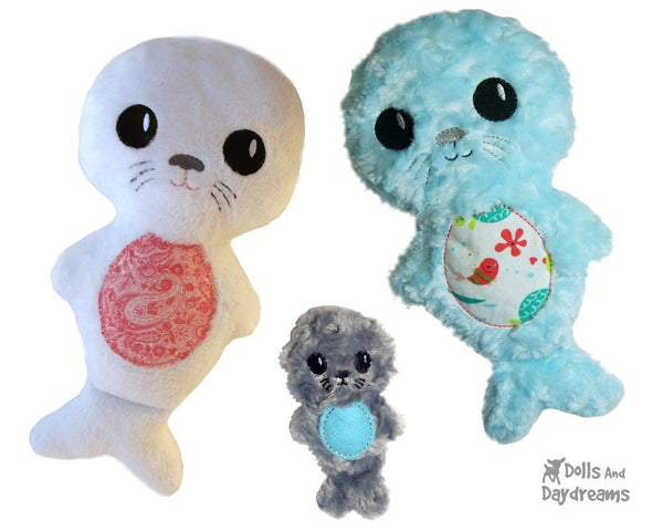 Embroidery Machine Seal Pup Pattern - Dolls And Daydreams - 1