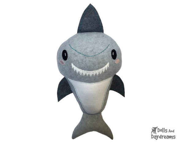 Embroidery Machine Shark Pattern - Dolls And Daydreams - 1