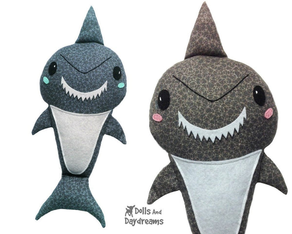 Shark Sewing Pattern - Dolls And Daydreams - 1