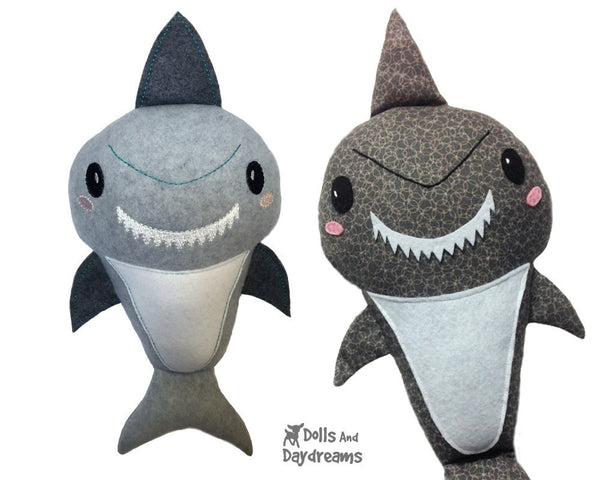 Shark Sewing Pattern - Dolls And Daydreams - 4