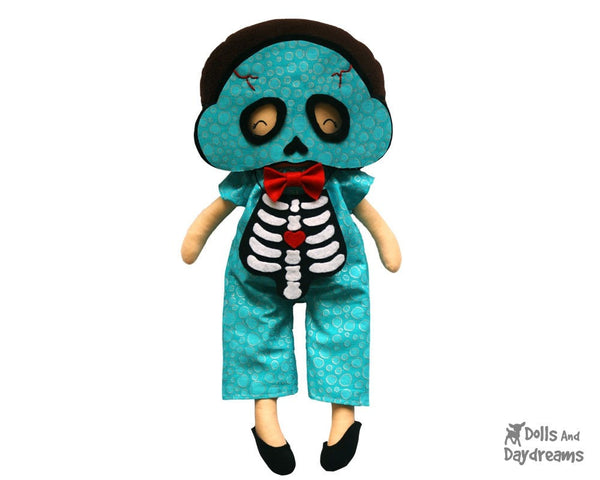 Skeleton Mask & Necklace Pattern - Dolls And Daydreams - 1