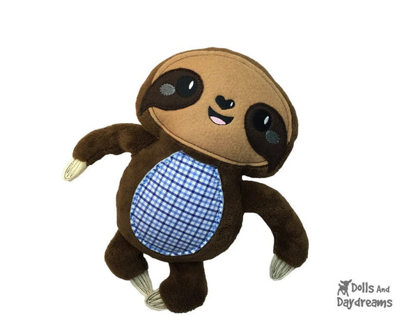Embroidery Machine Sloth ITH Pattern - Dolls And Daydreams - 3