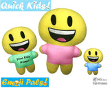 ITH Quick Kids Smile Emoji Doll Plush Pattern DIY Machine Embroidery In The Hoop Toy