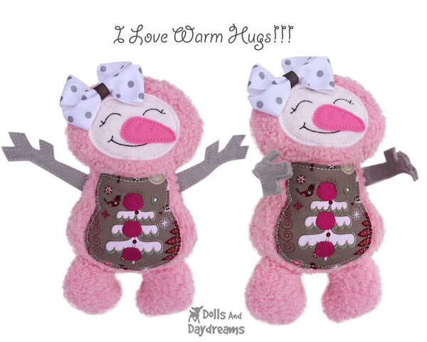 Embroidery Machine Snowman ITH Pattern - Dolls And Daydreams - 6