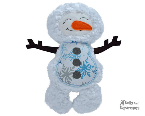 Embroidery Machine Snowman ITH Pattern - Dolls And Daydreams - 1