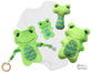 Baby's 1st Plush Frog Snuggle Sewing Pattern Set