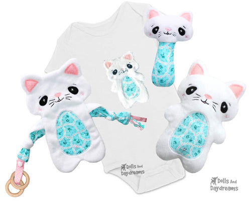 Baby's 1st Plush Cat Snuggle Sewing Pattern Set
