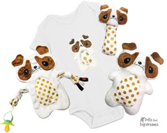 Baby's 1st Plush Puppy Snuggle Machine Embroidery Pattern Set