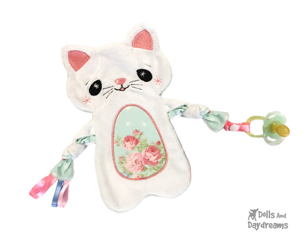 Baby's 1st Plush Cat Snuggle Machine Embroidery Pattern Set