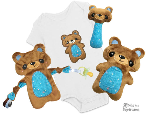 Baby's 1st Plush Teddy Snuggle Machine Embroidery Pattern Set