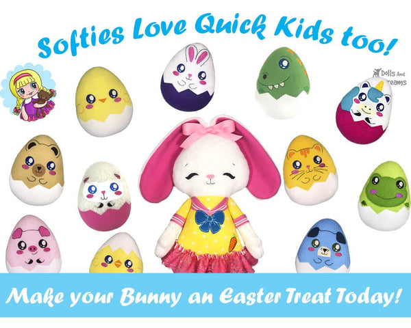 Quick Kids Bunny Hatchling Sewing Pattern