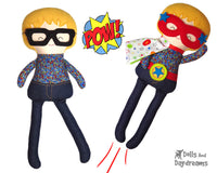 Machine Embroidery ITH Superhero Boy Doll Pattern Easy DIY In The Hoop Cloth Hero Toy Dolls And Daydreams