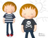 18 inch Doll T-shirt Sewing Pattern by Dolls And Daydreams