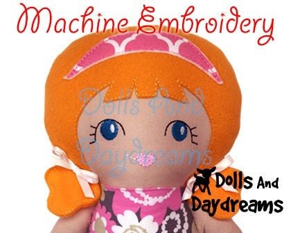 Machine Embroidery Tilda Tim Doll Face Patterns - Dolls And Daydreams - 3