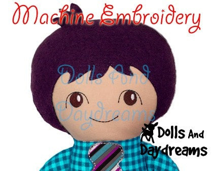 Machine Embroidery Tilda Tim Doll Face Patterns - Dolls And Daydreams - 4