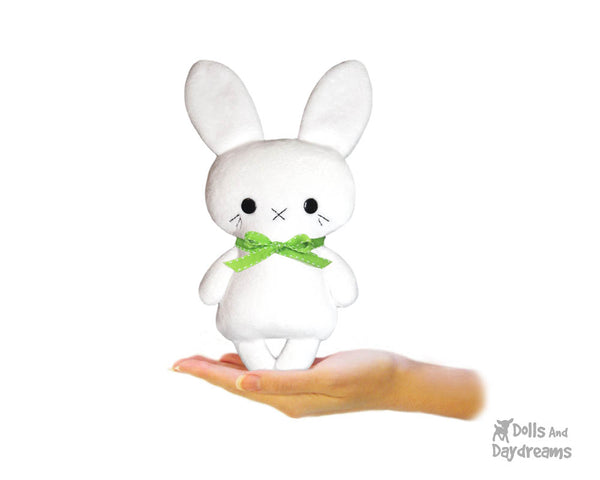 Tiny Tot BunBun Easter Bunny Rabbit Sewing Pattern by Dolls And Daydreams small soft toy pdf diy