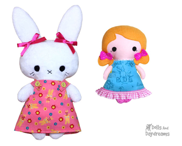 Tiny Tot Pinafore Dress Doll clothes PDF Sewing pattern by Dolls And Daydreams
