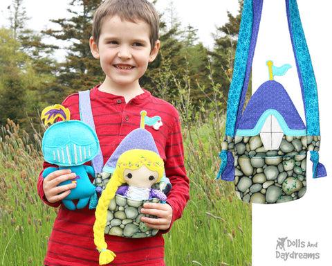 tiny tower tote and Rapunzel doll patterns by dolls and daydreams
