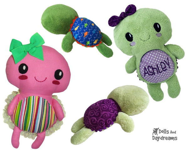 Turtle Sewing Pattern - Dolls And Daydreams - 2
