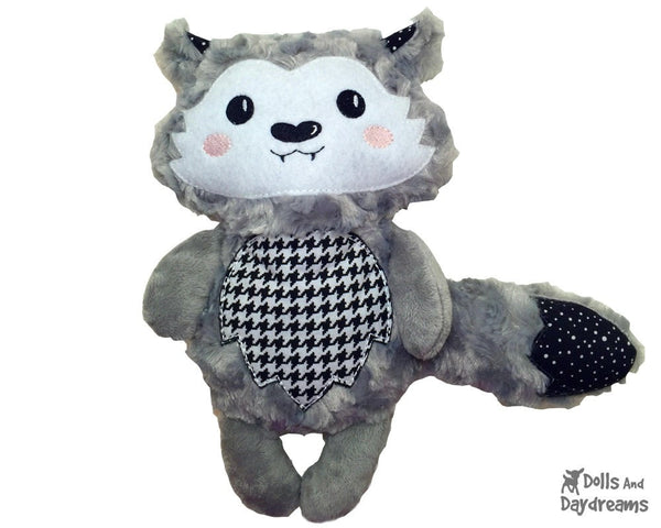 Embroidery Machine Wolf Pup Pattern - Dolls And Daydreams - 6