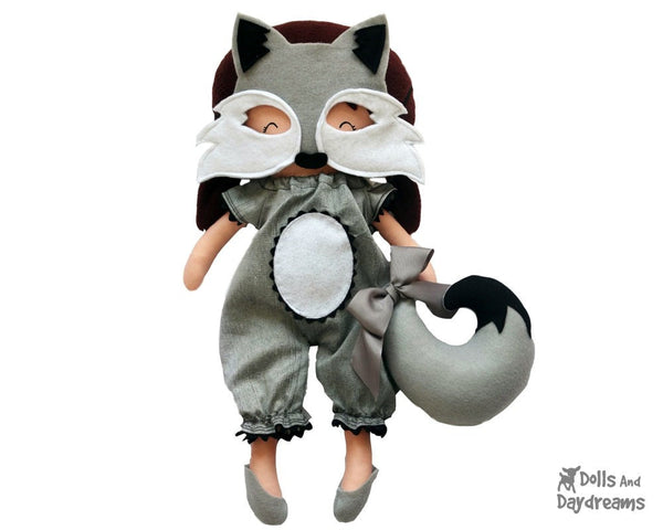 Wolf Mask & Tail Pattern - Dolls And Daydreams - 1
