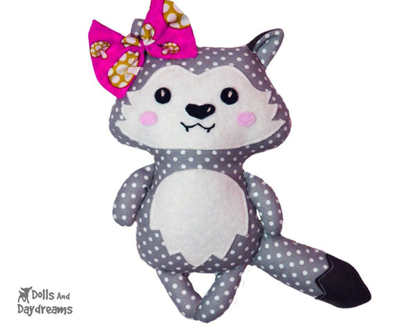 Wolf Pup Sewing Pattern - Dolls And Daydreams - 3