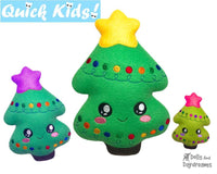 In The Hoop Quick Kids Christmas Tree Machine Embroidery Pattern by Dolls And Daydreams DIY Xmas Softie Easy Kawaii Plush Tree