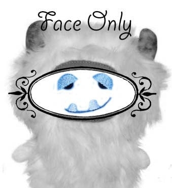 Machine Embroidery Yeti Face
