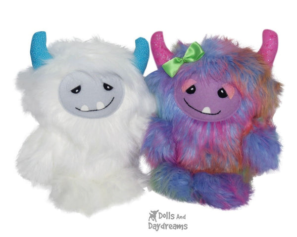 Yeti Monster Sewing Pattern - Dolls And Daydreams - 7