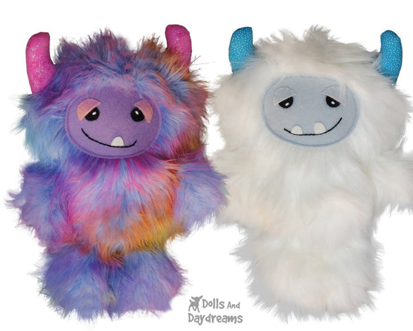 Yeti Monster Sewing Pattern - Dolls And Daydreams - 4