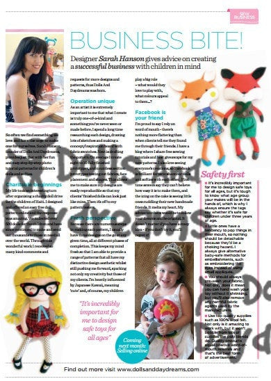 Schoolgirl Sewing Pattern - Dolls And Daydreams - 6