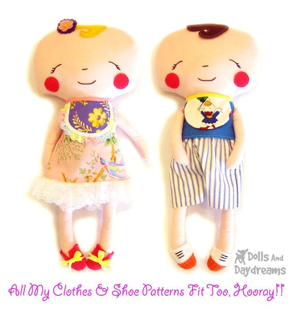 Baby Doll Sewing Pattern - Dolls And Daydreams - 4