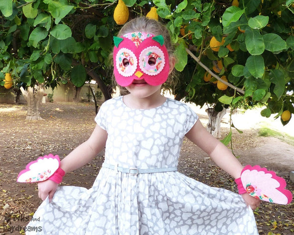 Owl Mask & Wing Pattern - Dolls And Daydreams - 2