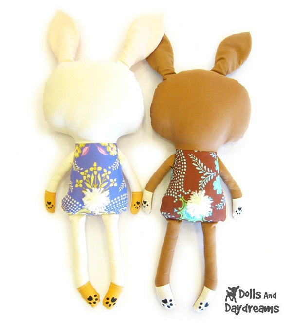 Bunny Rabbit Sewing Pattern - Dolls And Daydreams - 3