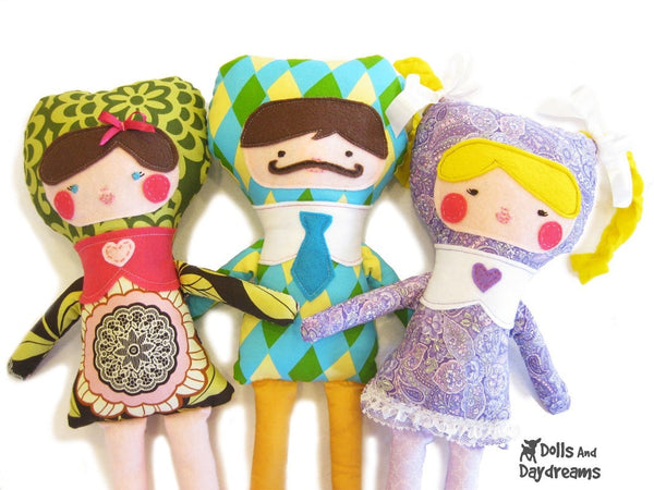 Applique Face Dolls Sewing Pattern - Dolls And Daydreams - 4