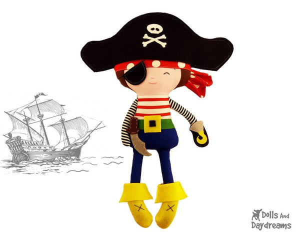 Pirate Sewing Pattern - Dolls And Daydreams - 1